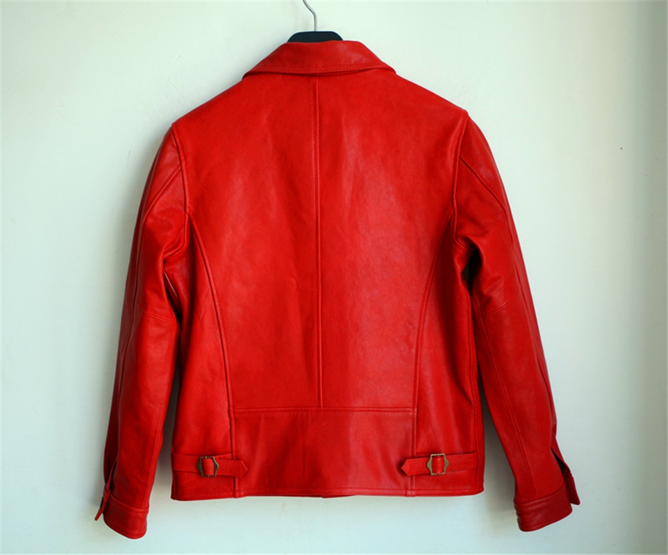 Vintage Lesen Größe Beschreibung Wildleder Männer Reiter Mens Leder Asiatische Mantel Jacke Schafe qq16Tnwzx