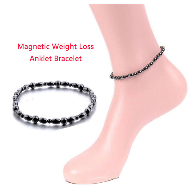 Adjustable Weight Loss Magnetic Therapy Bracelet Therapy Slimming Hand Chain Hematite Stretch Magnet Bracelets Health care slim 4