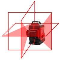 Большой сильный 3D 12 линий лазерный уровень толстые линии самовыравнивание 360 горизонтальный и вертикальный крест супер мощный красный лазе