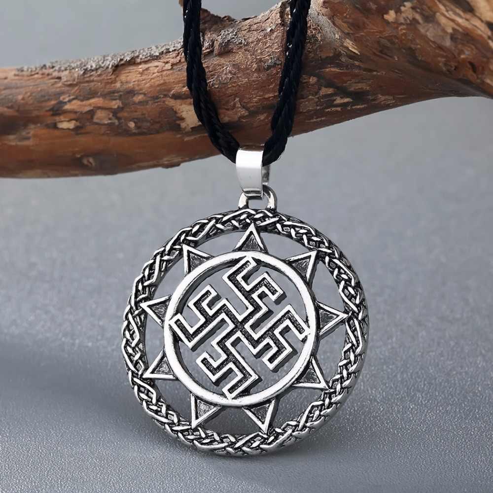 Cxwind Retro Amulet słowiański silny ochronny uzdrowienie wisiorek starożytny słowiański Symbol talizman wisiorek Viking mężczyźni naszyjnik biżuteria