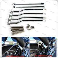 Universal Saddlebag Support Bars Brackets Mounting Brackets For Kawasaki Harley Honda TRIUMPH SUZUK I YAMA HA