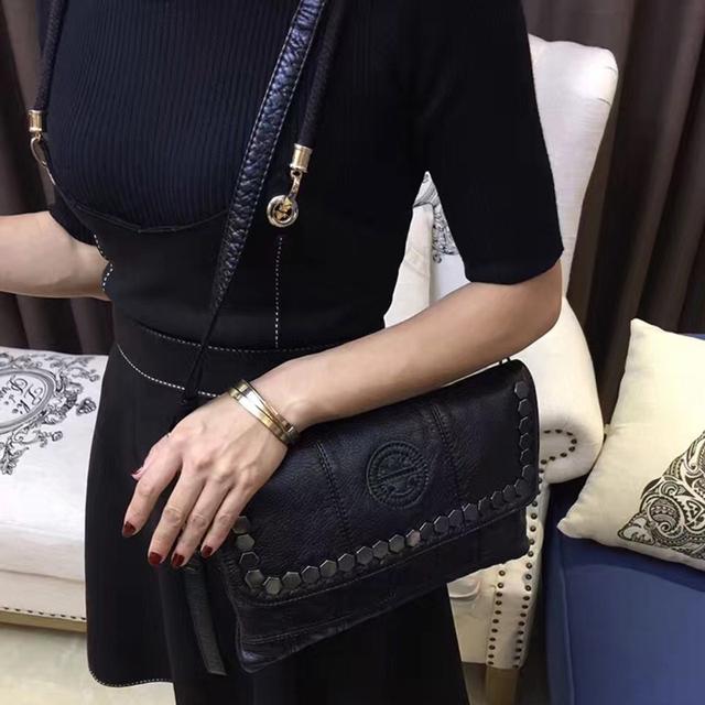 Black Rock Stud Envelope Clutches Evening Party Famous Crossbody Bag Clutch Purse Metal Studs Handbags Ladies Rivet Evening Bag