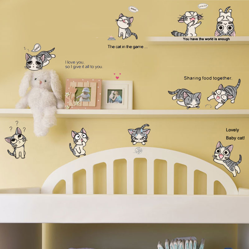 10 Cats Chi S Sweet Home Kids Bedroom Decorations Funny Cute Diy Stickers Sticker Home Decorations Decor Decal Wallpaper Art Stickers Home Decor Stickers Homekids Bedroom Decor Aliexpress