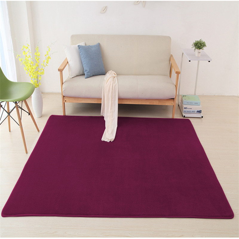 2019 New Children Crawling Mat Bedroom Blanket Sofa Room Simple Coffee Table Living Room Rectangular Rug Coral Velvet Carpet