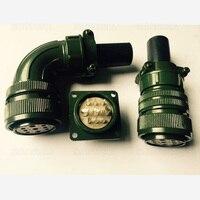 20pcs 500pcs 9Pins Elbow Aviation Plug Encoder Servo Motor Connector MS3102 3106A24 11S Jack