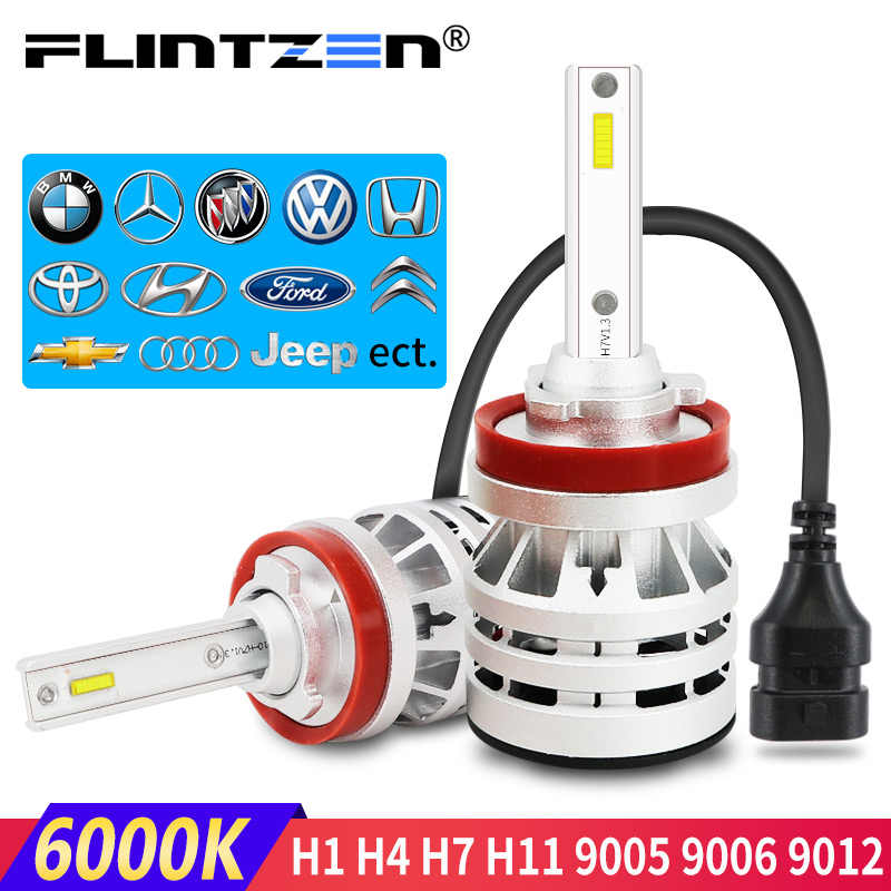 Flintzen h4 led car headlight h7 led headlight auto car fog lamp h1 h11 car light for toyota corolla bmw e36 e60 honda golf ect.