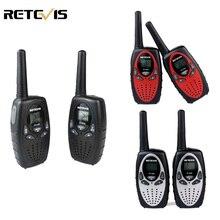 2pcs Mini Walkie Talkie Kids Radio RETEVIS RT628 0.5W UHF 446MHz EU Frequency Portable Hf Transceiver Ham Radio Kids gift A1026B