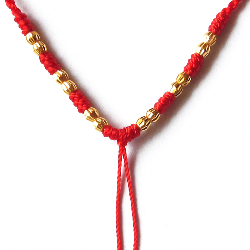 Nouveauté Pure 24 K or jaune collier à la main tissage chaîne perles collier 0.72g