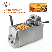 ITOP Commercial 11L-12L Auto Lift-Up Deep Fryer Digital Control Industrial Fryer Potato Chip Chicken Frying Machine цена и фото