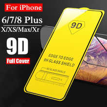 9D Full Tempered Glass For iPhone 6 6S 7 8 Plus X XR XS Max Screen Protector For Samsung Galaxry S8 S9 S10 Plus Note 8 9 Film camera lens screen protector tempered glass film for iphone xs max x xr 8 7 plus samsung galaxy note 10 5g 9 s10 s10e s9 s8