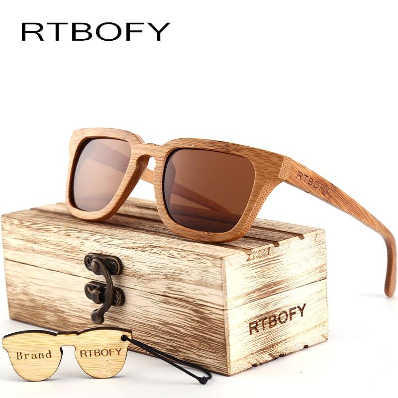 RTBOFY 2017 लकड़ी धूप का चश्मा - वस्त्र सहायक उपकरण