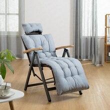 Mecedora de ratán para interiores al aire libre con cojín sillón plegable Vintage reclinable para Patio, piscina, playa, cubierta, hogar
