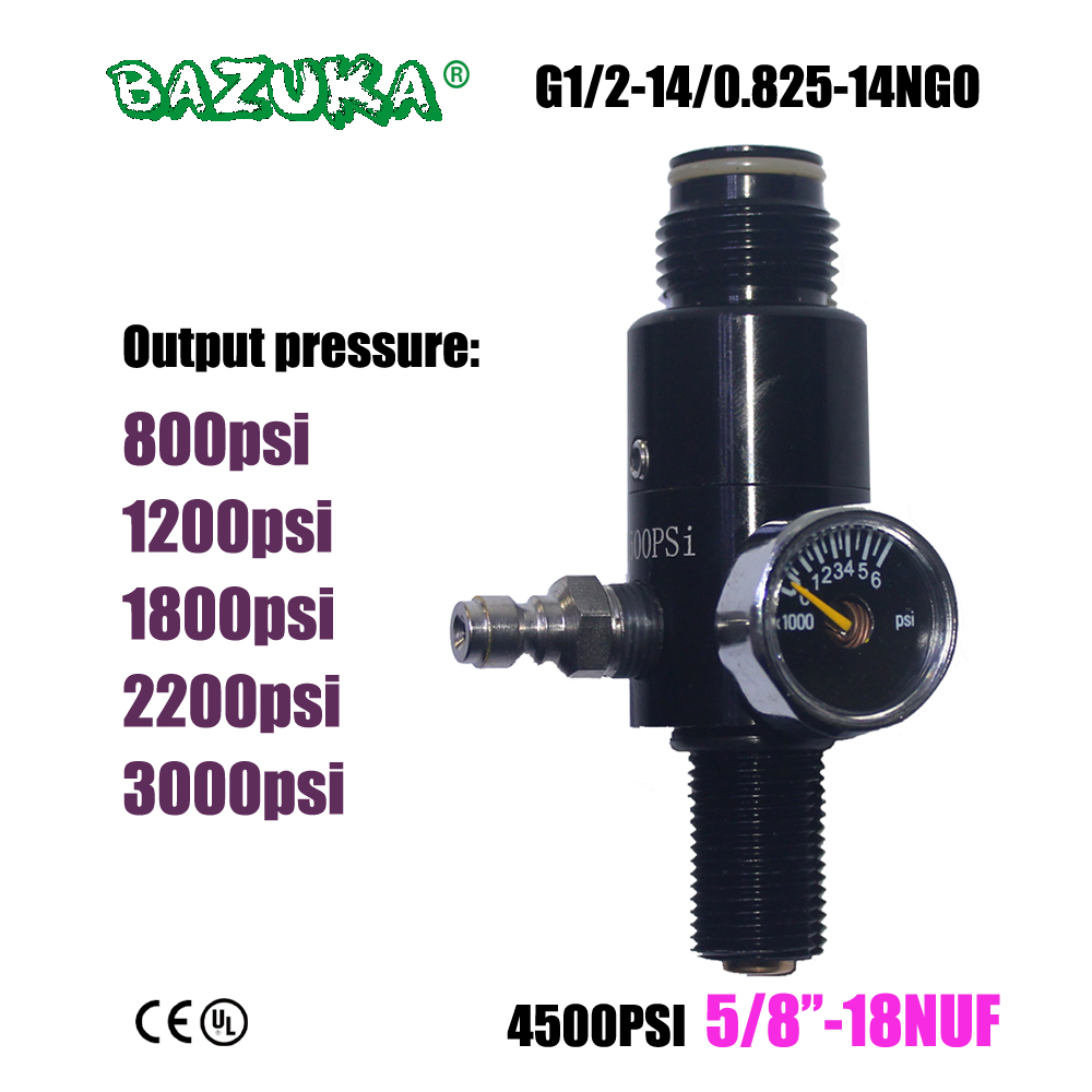New Paintball Air Gun Airsoft PCP Air Rifle HPA 4500psi Compressed Air Tank Regulator Valve Output Pressure 5/8
