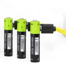 ZNTER 1.5V AAA 400mah li-polymer li-ion lithium rechargeable battery USB battery with USB charging line Drop shipping leory 4pcs znter aaa 1 5v 400mah usb lipo rechargeable battery ultra efficient aaa lithium polymer li ion usb charging batteries