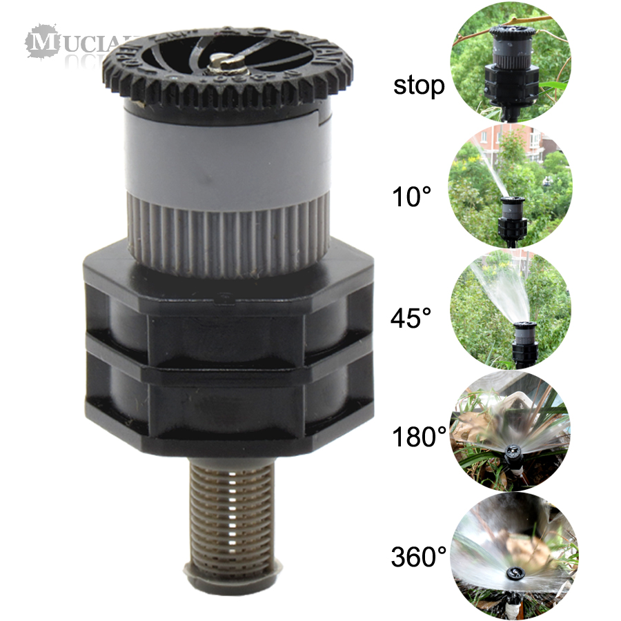 1PC 1/2'' Female Misting Sprinkler Garden Micro Lawn Greenhouse Water Spray Adjustable Rotary Nozzle Irrigation Atomized Tool