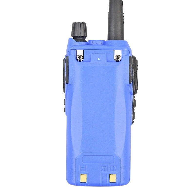 Hot Sell Blue Dual PTT Button 5W UV-82 136-174/400-520MHZ CB Communicator Walkie Talkie+Free Earphone