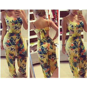 Jumpsuit Romper High-Quality Fashion Women Ladies Long-Trousers Hot-Sexy Sleeveless Newest