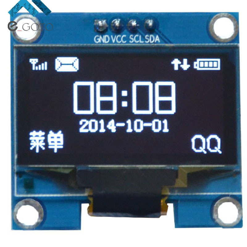 1.3 1.3 inch White OLED Display Module IIC I2C Interface 128x64 3-5V OLED Screen Board For Arduino