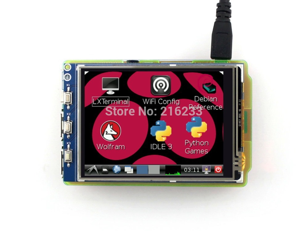 module Waveshare 3.2inch Raspberry Pi LCD TFT Touch Screen with SPI Interface for Any Revision of Raspberry Pi 3 Model B/2 B/B+/ 7 inch raspberry pi 3 touch screen 1024 600 lcd display hdmi interface tft monitor module compatible raspberry pi 2 model b
