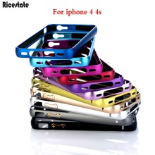 For iPhone 4 4s Anti Knock Aluminium Metal Bumper Frame Case for iPhone 4s Ricestate Brand cover for iphone4 Case(China)
