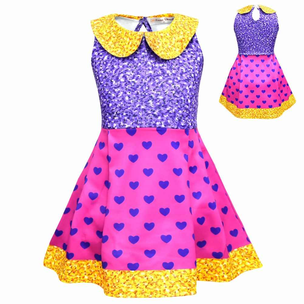 9479dbcb334 Girls dress Princess kids Dresses Cosplay Doll Party Dress Children's  Halloween Costumes Baby Girl Clothes 2-8Y Kids Clothing