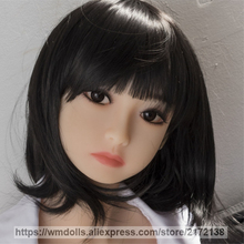 WMDOLL Cute Real Sex Dolls Head for Oral Sex Silicone Love Doll Realistic Adult Toys
