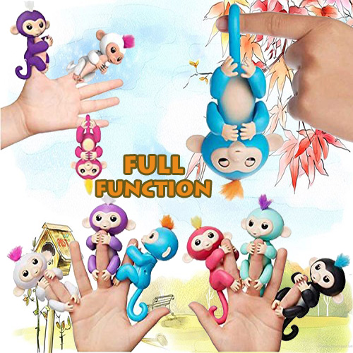 Full Function Interactive Baby Finger Monkeys toy Smart Colorful Fingers Toy Smart Induction Toys Best Birthday gifts For Kids doreenbeads rubber earring components post stopper cylinder transparent 3mm 1 8 x 3mm 1 8 150 pcs