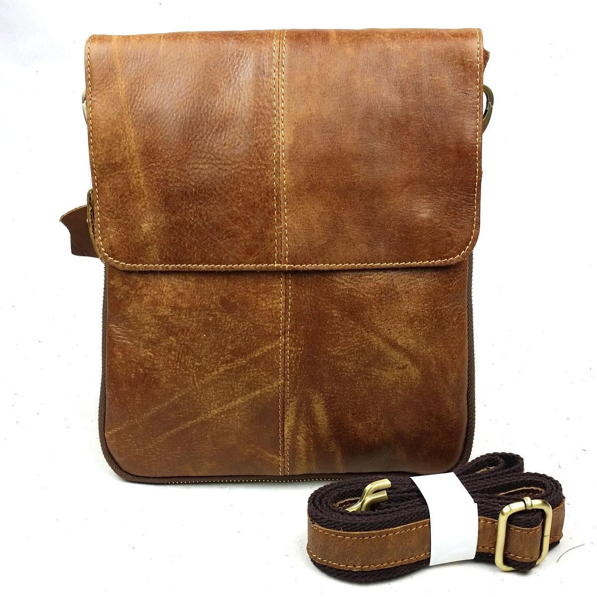 Première Couche de Peau De Vache 100% Véritable Sac En Cuir Pour Hommes Vintage Style Hommes D'affaires de Messenge Sac Tablet PC sac à main YS1313