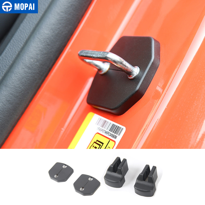 MOPAI Car Interior Door Stop Door Lock Buckle Decoration Cover Trim Stickers for Ford <font><b>Mustang</b></font> <font><b>2015</b></font> Up Car <font><b>Accessories</b></font> Styling image