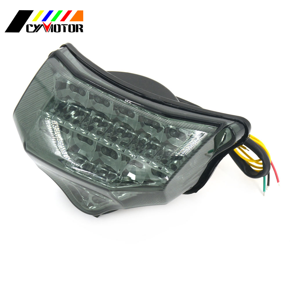 Motorcycle LED Rear Signal Tail Stop Light Clear For Yamaha FZ6 Fazer 600 2004 2005 2006