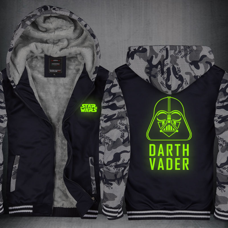 Drop Ship Star Wars Cosplay Hoodie Men New Fashion Comics Sweatshirt Fleece Hoody Sportswear Characters Warm Zipper Jacket CM415
