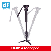 DM01A 3KG bear Alloy professional camera tripod monopod DSLR stand portable light video stick monopod+ fluid head table tripod