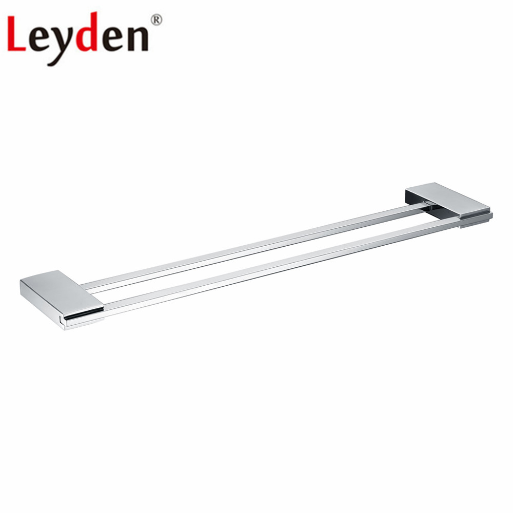Leyden Double Towel Bars Stainless Steel Wall Mounted Chrome Double Towel Holders Towel Hanger Bathroom Double Towel BarsLeyden Double Towel Bars Stainless Steel Wall Mounted Chrome Double Towel Holders Towel Hanger Bathroom Double Towel Bars