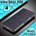 Lenovo vibe tiro caso capa de couro cube luxo caso da aleta para lenovo tampa do caso 4 estilo lenovo vibe tiro Z90 Z90 caso de telefone