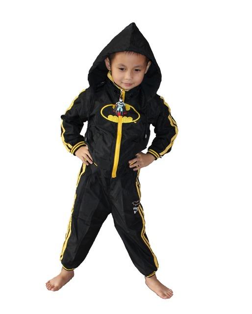 3-7 anos do menino 2 Outerwear terno, garoto poeira casaco, Casacos menino, bebê batman Papel jogar Rainwear ZG: S-XXL