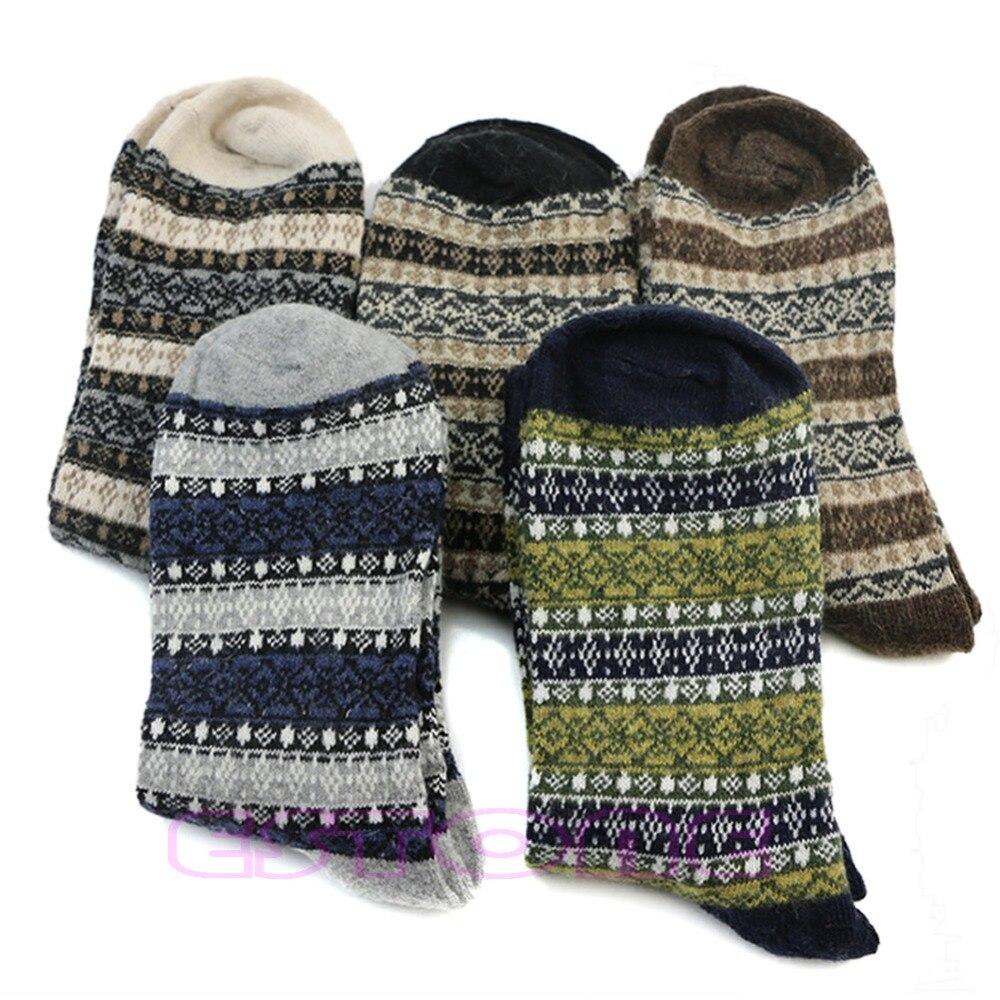Mens Warm Winter Thick Wool Mixture Angora Cashmere Casual Dress Socks