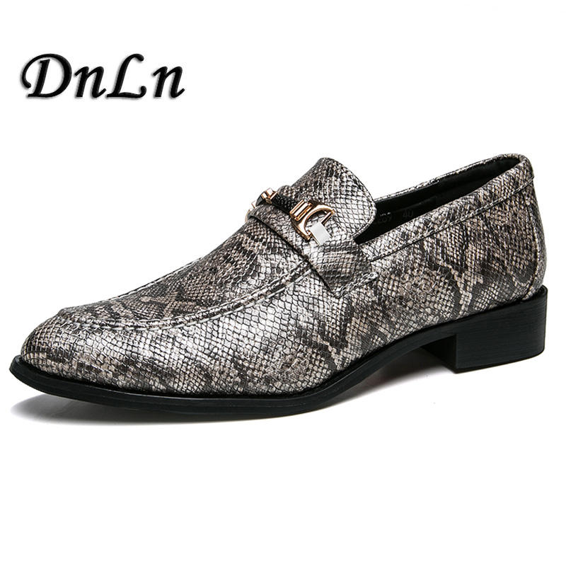 Shoes Fake Snake Skin Print Alligator Leather Shoes Men Loafers Slip On Pointed Toe Men Shoes Casual Slip On 17d50 Men's Casual Shoes
