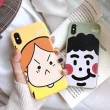 Cartoon style back Cover funda for iPhone 7 plus phone cases For Apple X XR XS MAX 8 6 6s