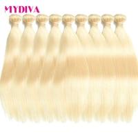 Brazilian Hair Weave Bundles Straight 613 Bundles 30 Inch Blonde Human Hair Bundles Whole Sale Brazilian 10 Bundles Deals Remy