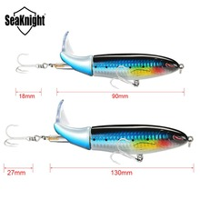 SeaKnight Topwater Whopper Plopper 13g/90mm 19g/110mm 39g/130mm 5PCS/Lot Fishing Lure Hard Bait VMC Hooks Bass Jig Sea Fishing