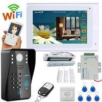 YobangSecurity видеодомофон дюймов 7 дюймов монитор Wifi беспроводной видео дверной звонок камера домофон система приложение с дверным замком