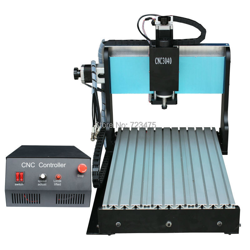 Hot 3040 cnc router with Ballscrew cnc engraver / cnc engraving machine / cnc drilling and milling machine+ Extra 15pcs bits  цена