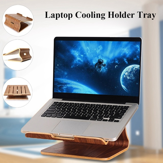 Wooden Laptop Cooling Holder Stand Radiator Dock Tray For MacBook Notebook New  Laptop Stand Cooling Cooler