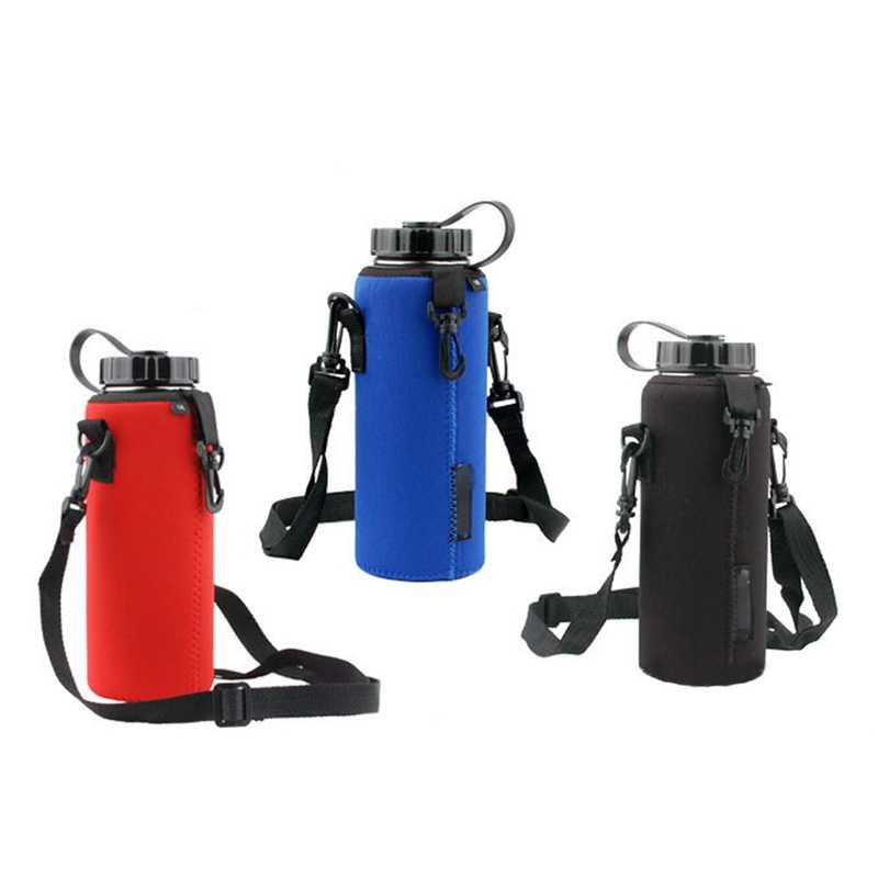 Hot 1000ML Water Bottle Carrier Insulated Cover Bag Holder Strap Pouch Bag Camping Hiking Bottle Carrier Holder Bag