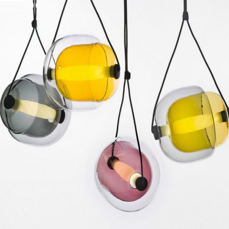 Modern Creative Designer Czech Capsula Glass Led Pendant Light Post Modern Dining Room Studio Cafe Light