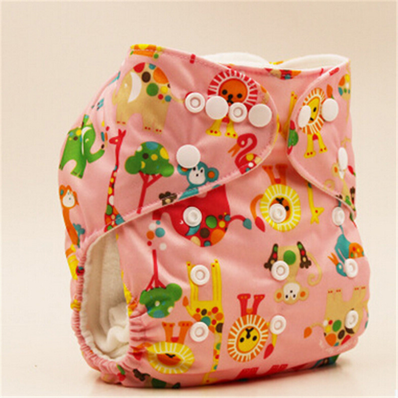 Retail Colorful Baby Diaper Washable Baby Pocket Nappy Cloth Reusable Diaper Inserts Cover Wrap Insert High Quality 3-15Kgs
