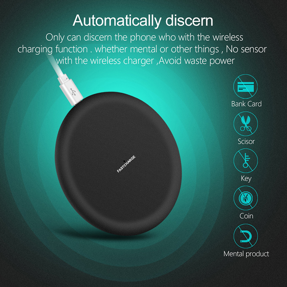 Image 5 - NTONPOWER Qi Wireless Charger For iPhone X XR XS 8 plus 10W Wireless Fast Charging pad for Samsung Xiaomi Huawei-in Mobile Phone Chargers from Cellphones & Telecommunications