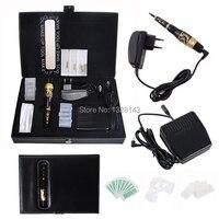 Wholesale High Quality Permanent Makeup Kit Tattoo Eyebrow Machine Eyebrow Tattoo PenPower Supply Freeshipping