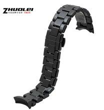18 мм 22 мм часовые аксессуары черный керамические часы ремень браслеты развертывания часы пряжка для AR1405 AR1453