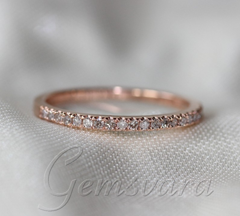 aliexpresscom buy 2 rings solid 14k rose gold morganite wedding rings wedding bands engagement ring gemstone diamond jewelry from reliable jewelry taiwan - Morganite Wedding Ring